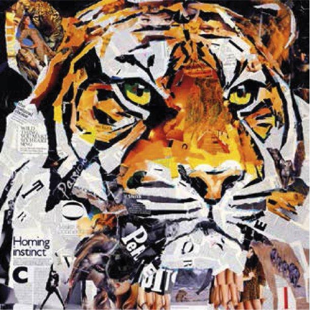 hello tiger canvas incado. Black Bedroom Furniture Sets. Home Design Ideas