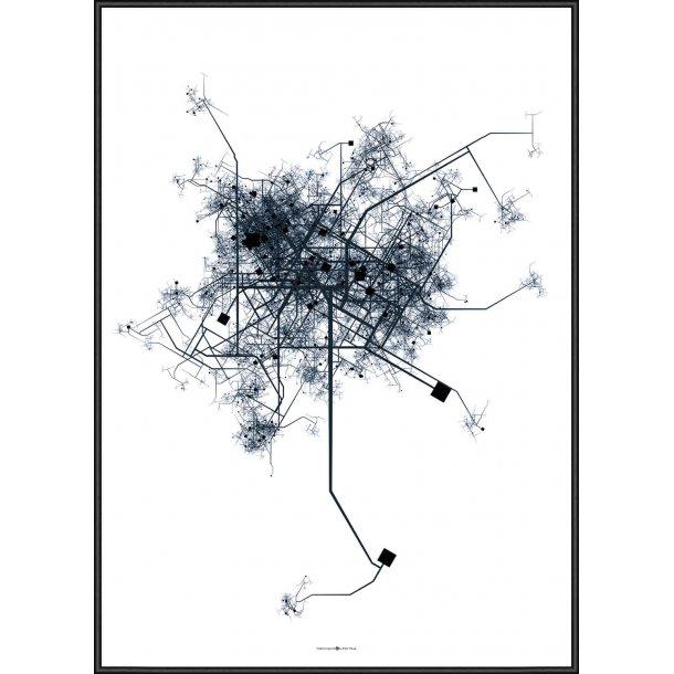 City Map Blue