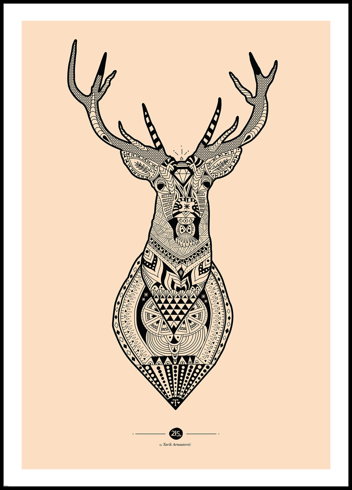 Inca deer poster print incado for Mediaworld lavatrici slim