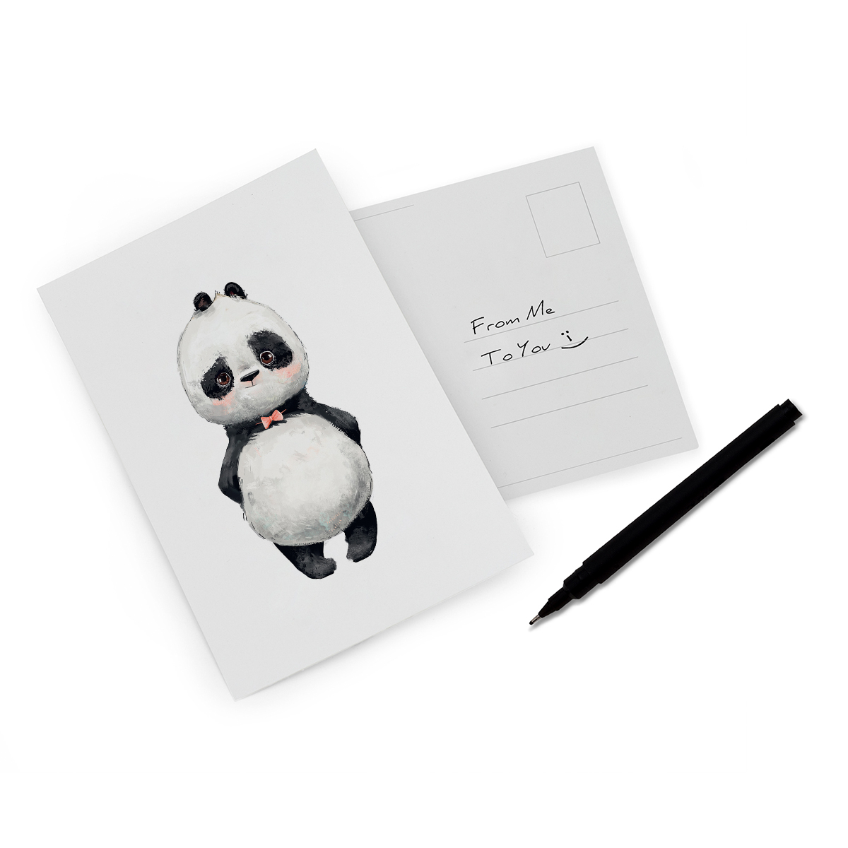 Playful Panda Bowtie Art Cards Incado